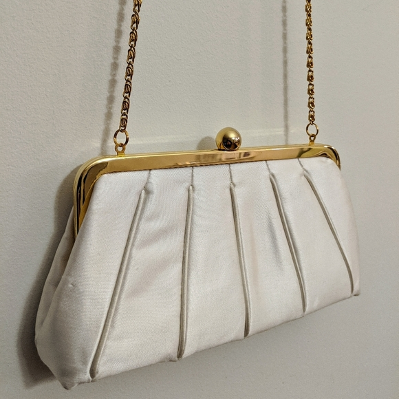 Satin Cream Clutch